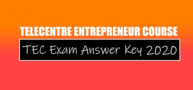 TEC Exam Answer Key 2020