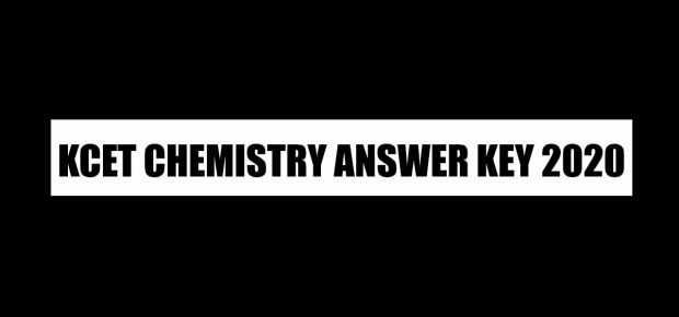 kcet answer key 2020 chemistry