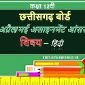 April Assignment Answer 12th Hindi