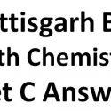 CG Board 12th Chemistry Exam Answer