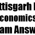 CG Board 12th Economics Set B Exam Answer