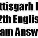 CG Board 12th English Exam Answer