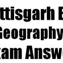 CG Board 12th Geography Set B Exam Answer